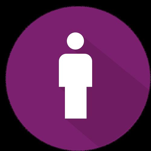 icone humain au centre